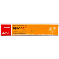 Equivac 2 In 1. Tetnus And Stangles Vaccine For Horses Single Dose