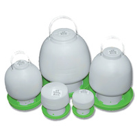 Poultry Drinker - Ball Type. Sizes 600ml, 1.3 litre, 2.5 litre, 4 litre, 6.5 litre, and 12 litre