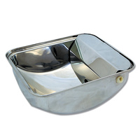 Bainbridge Supreme Automatic Drinking Bowl For Pets. Stainless Steel with Drainage Plug