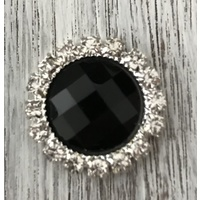 Black Diamonte Lapel