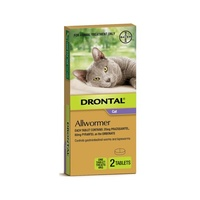 Drontal Allwormer Ellipsoid For Cats. 2 Sizes Available