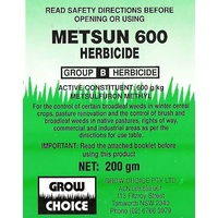 Grow Choice Metsun 600 Herbicide. 40gm or 500gm