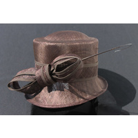Ladies Sinamay Hat. Brown. Perfect For Races, Judging, Church Etc