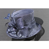 Ladies Sinamay Hat. Navy. Perfect For Races, Judging, Church Etc