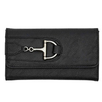Snaffle Bit Faux Leather Wallet. Black Or Brown