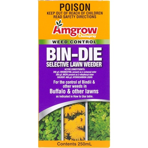Amgrow Bin-Die Concentrate Selective Lawn Weeder. 250ml