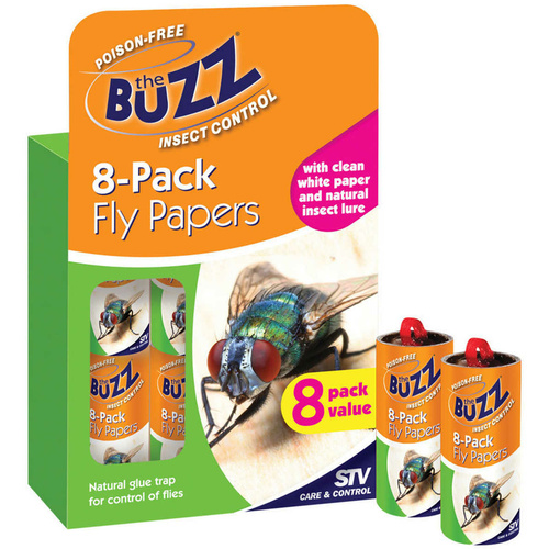 The Buzz Insect & Fly Control Papers. 8 Pack