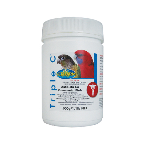 Vetafarm Triple C. Antibiotic For Ornamental Birds [Size: 500g]