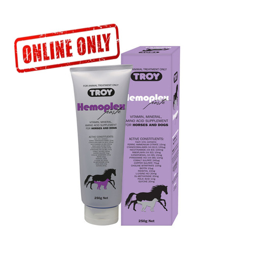 Troy Hemoplex Paste 250ml. Vitamin, Mineral, Amino Acid Supplement For Horses & Dogs